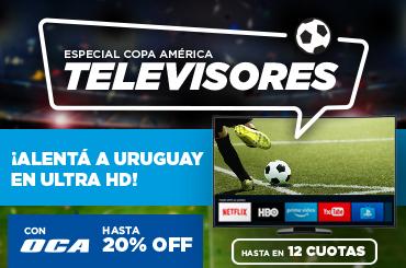Especial Copa América: Televisores hasta en 12 cuotas. Con Oca, hasta 20% OFF