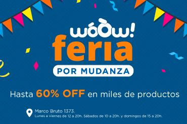 Feria por mudanza hasta 60% OFF